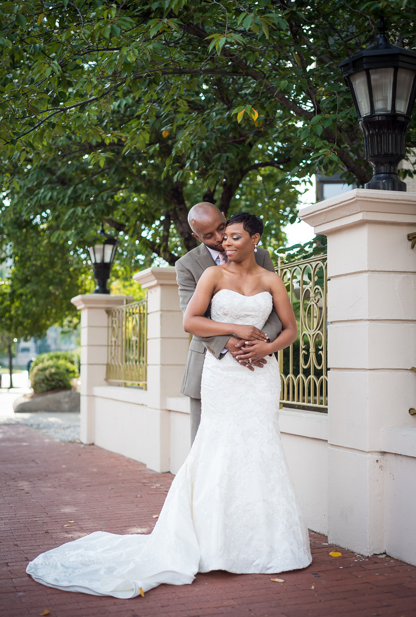 bride and groom portrait doubletree washington dc