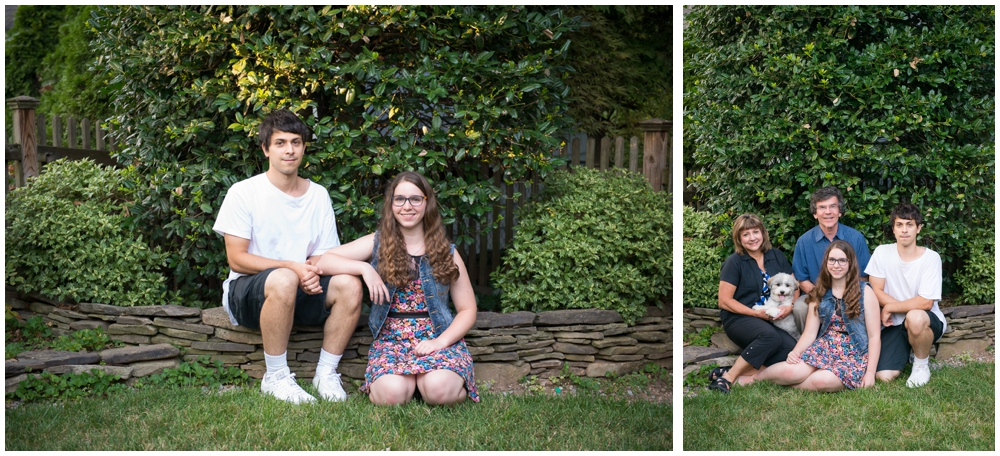 family portrait with adult brother and sister