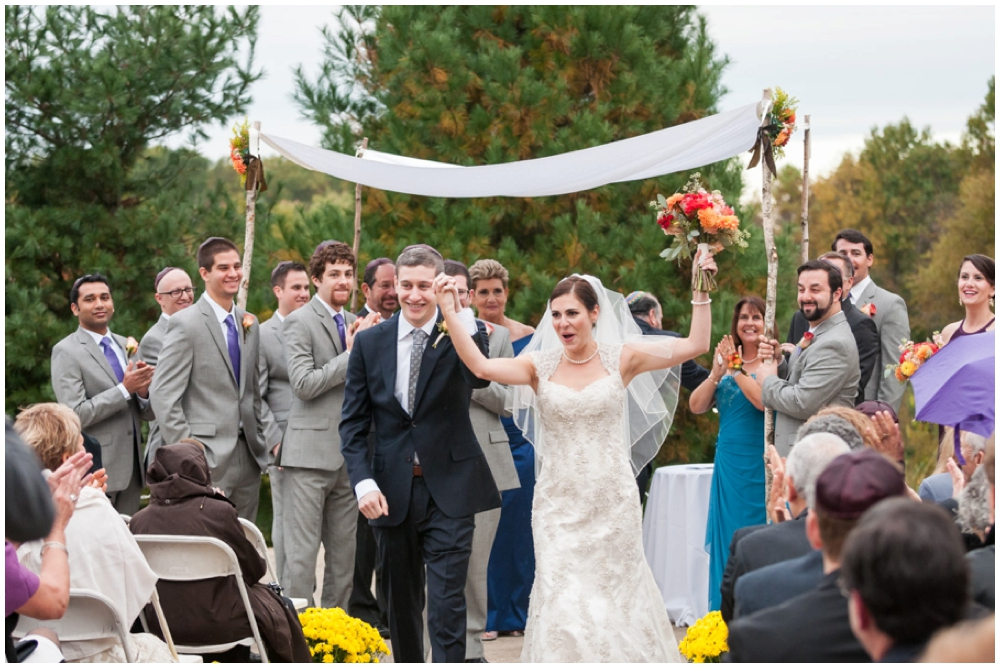 recessional with cheering during wedding ceremony