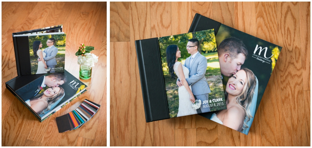 professional wedding photography layflat albums with swatches