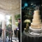 wedding at WWI monument, cake at Newseum reception