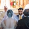 groom's face during wedding processional, DC Wedding Photography