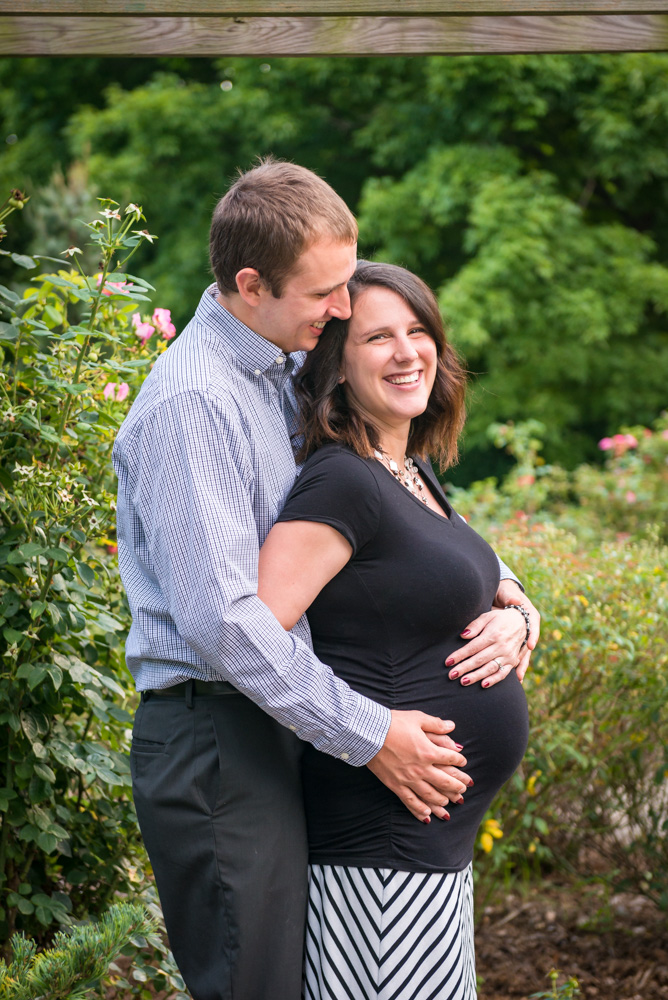 pregnant couple during maternity session
