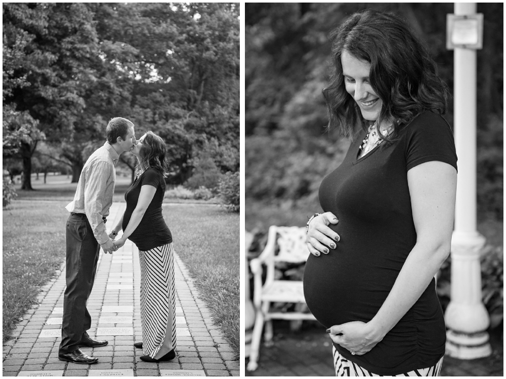 pregnant couple in park
