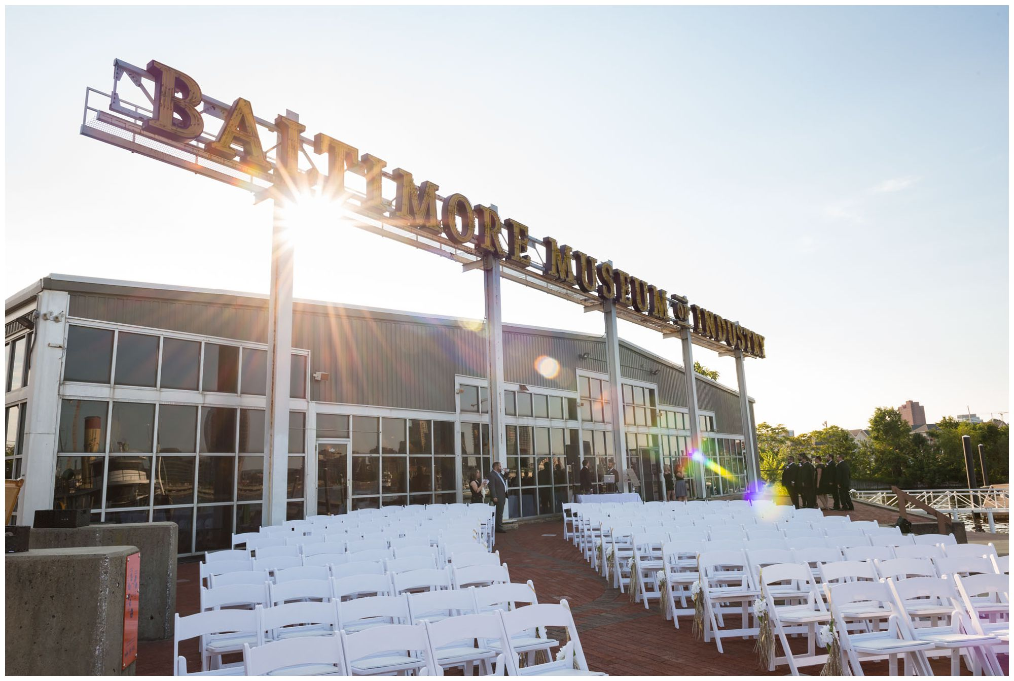 Harbor wedding at Baltimore Museum of Industry
