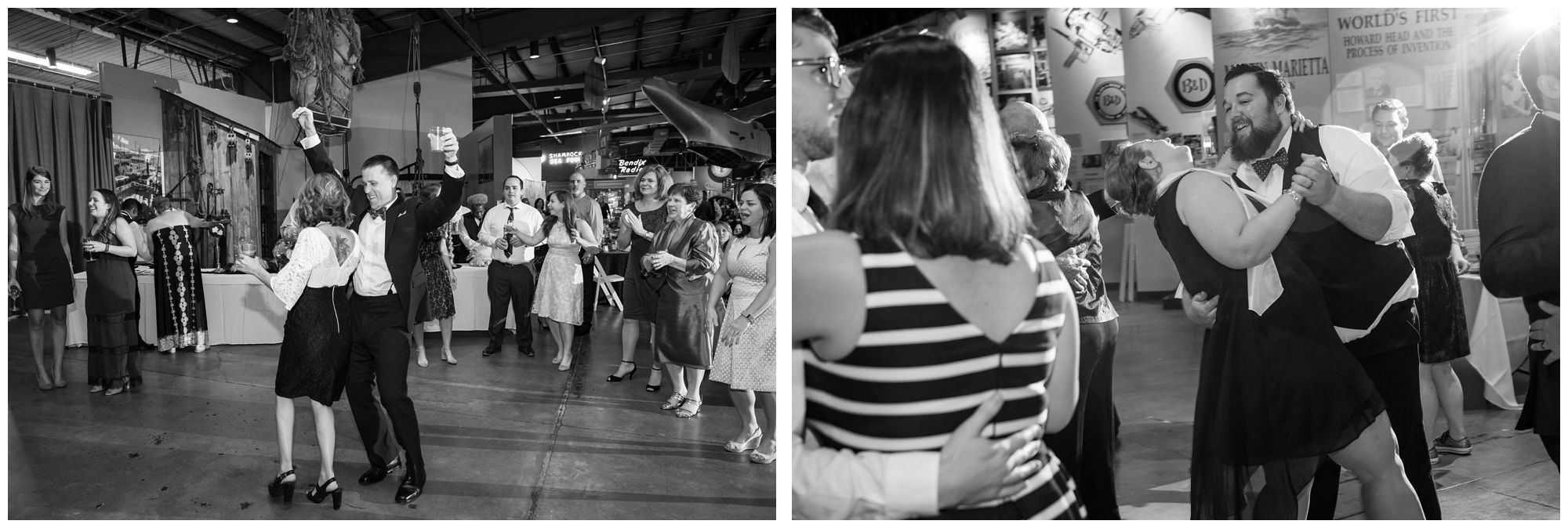 Wedding reception at Baltimore Museum of Industry
