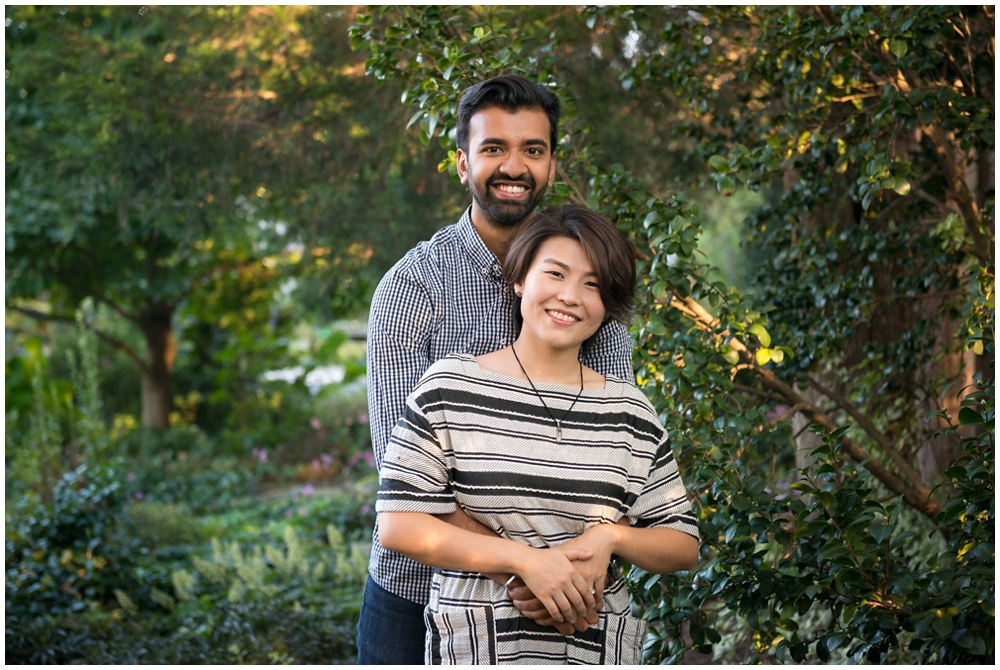 Engaged couple portrait at Green Spring Gardens in Alexandria, Virginia