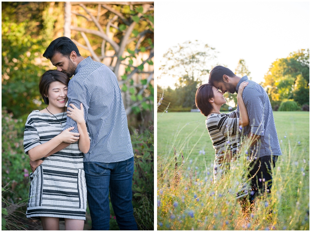 Engagement session at Green Spring Gardens in Alexandria, Virginia