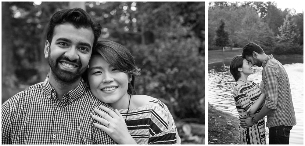 Engaged couple portraits at Green Spring Gardens in Alexandria, Virginia