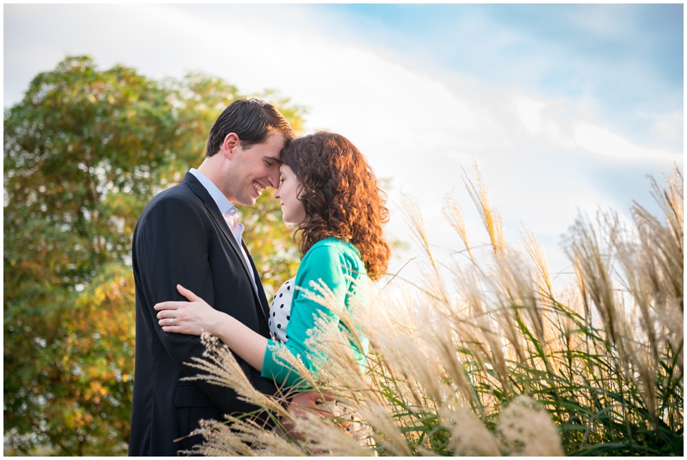 engaged couple at Libby Hill Park