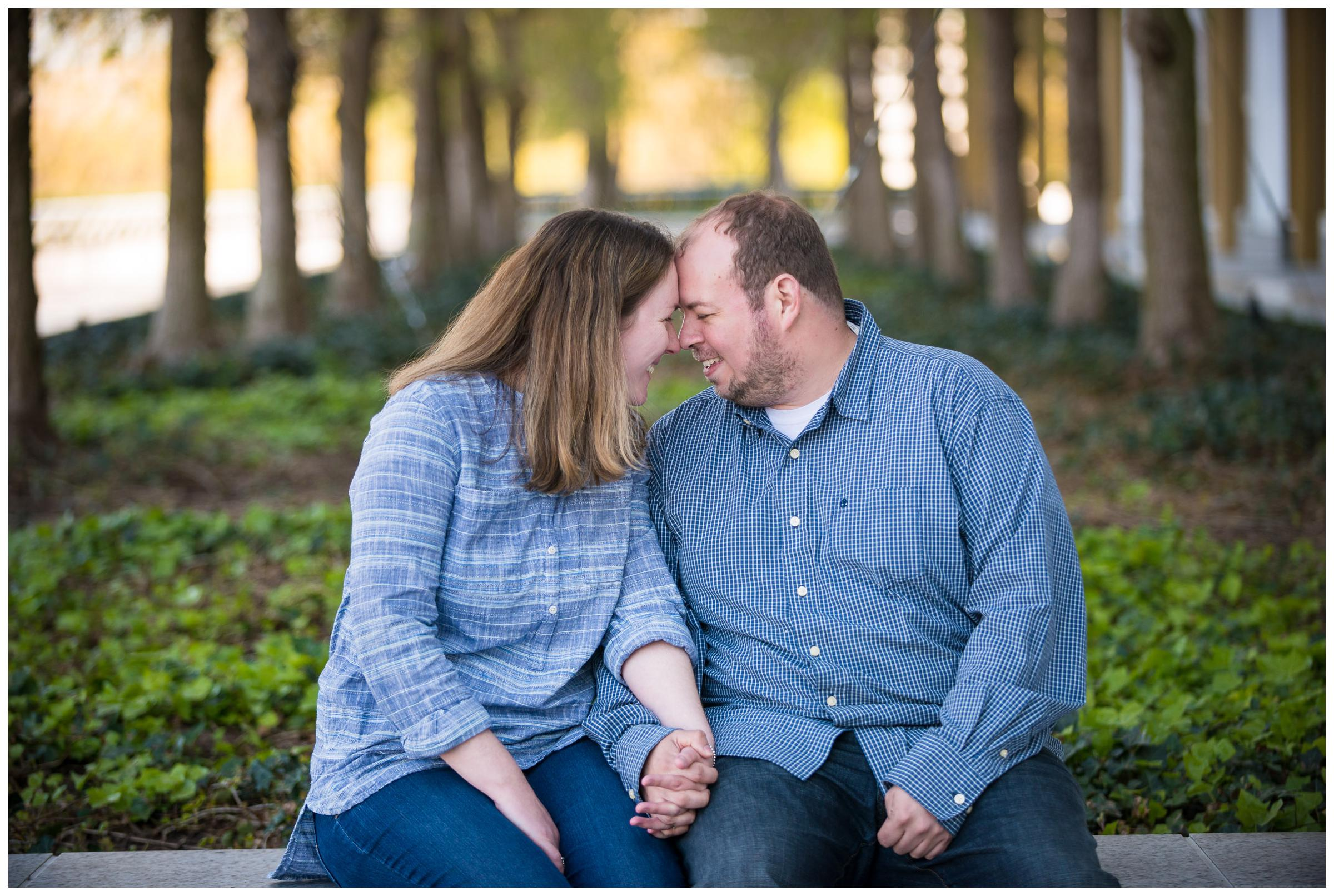engagement photos at Kennedy Center in D.C.