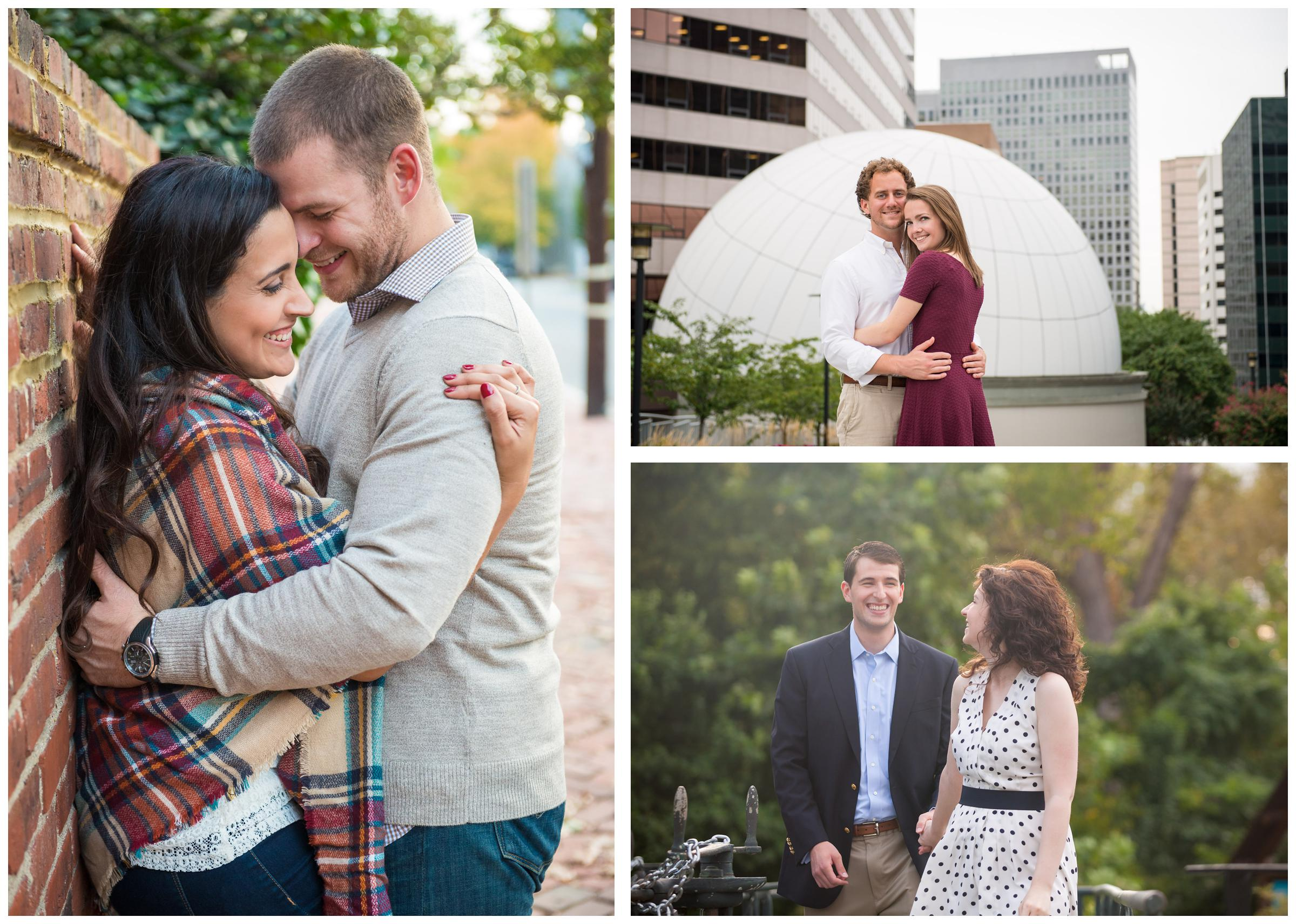 engaged couples in Rosslyn Virginia