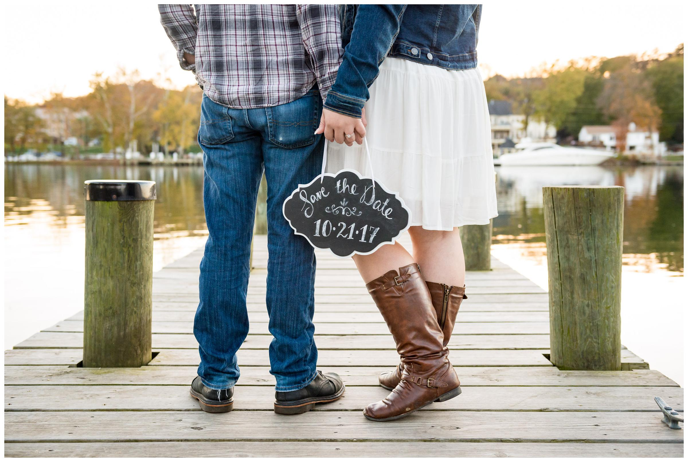 save the date engagement sign