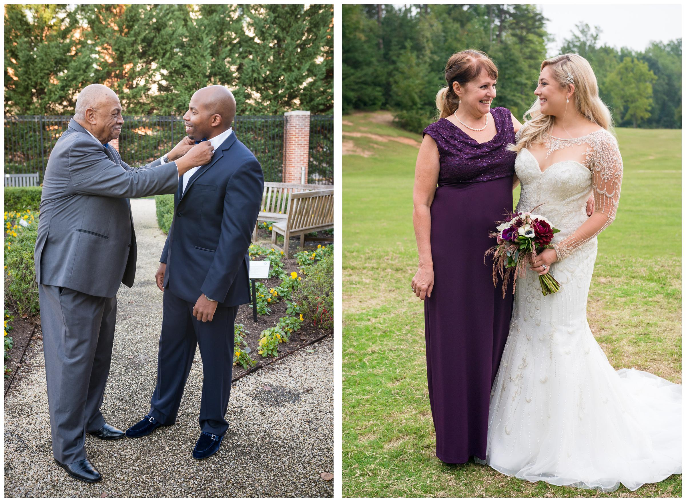 groom with dad and bride with mom