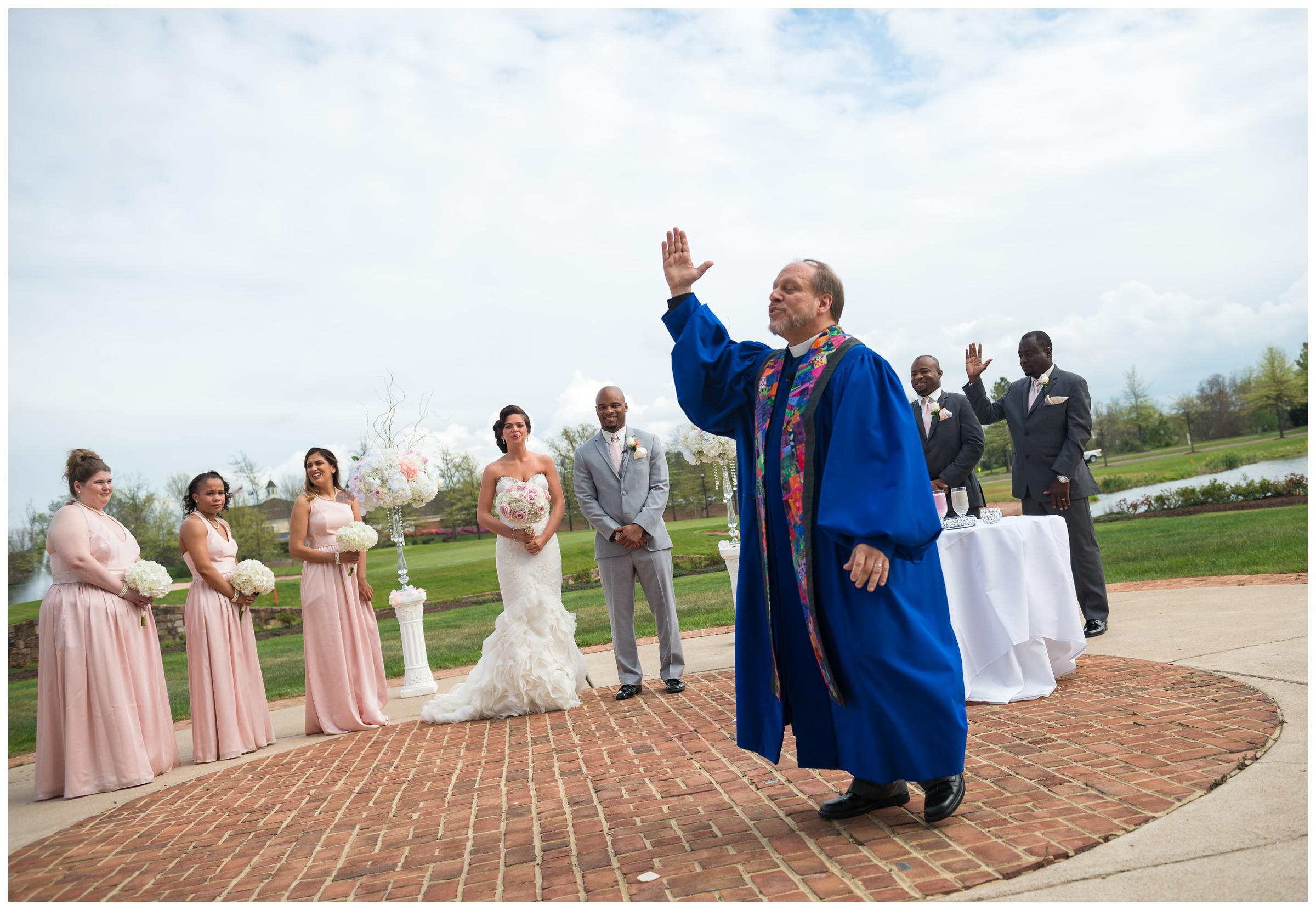 officiant during wedding ceremony
