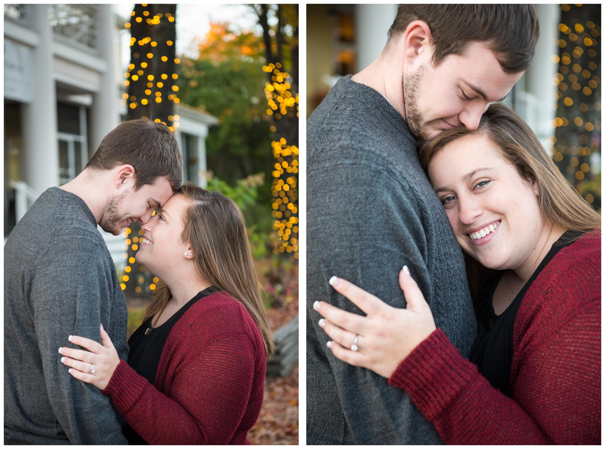 Engagement photos in historic downtown Ashland, Virginia.