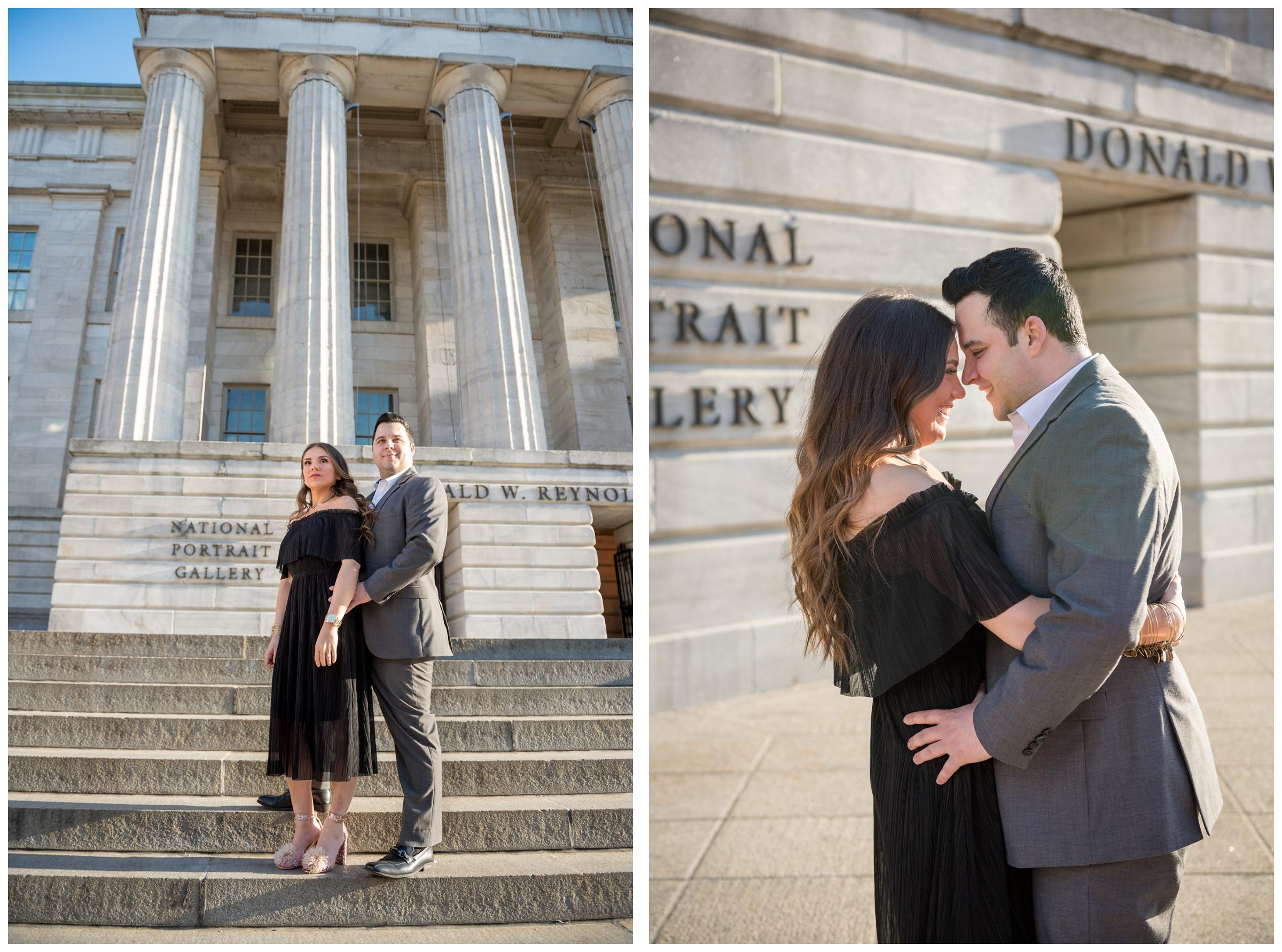 engagement photos at National Portrait Gallery in Washington, D.C.