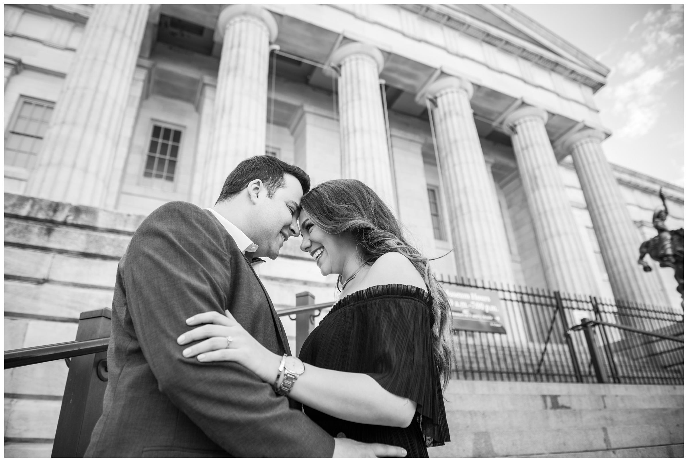 engagement photos at National Portrait Gallery in Washington DC