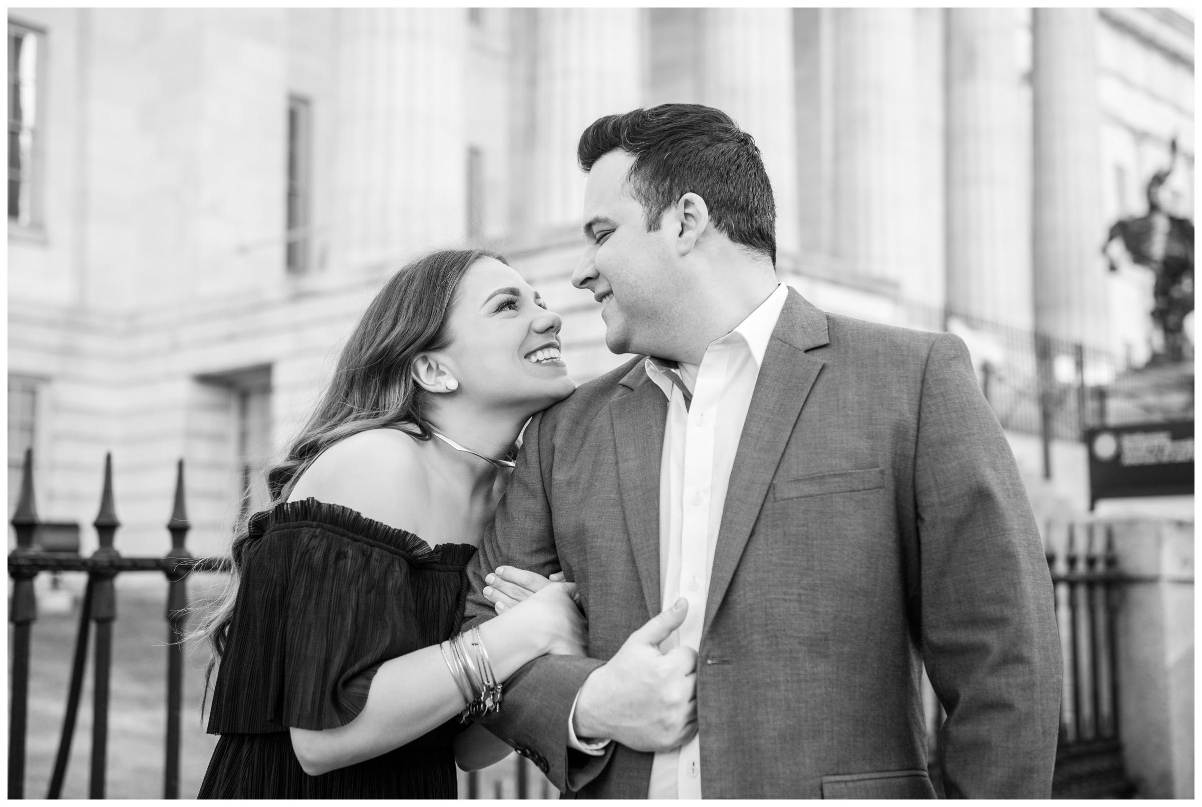 engagement photos at the National Portrait Gallery in Washington, D.C.