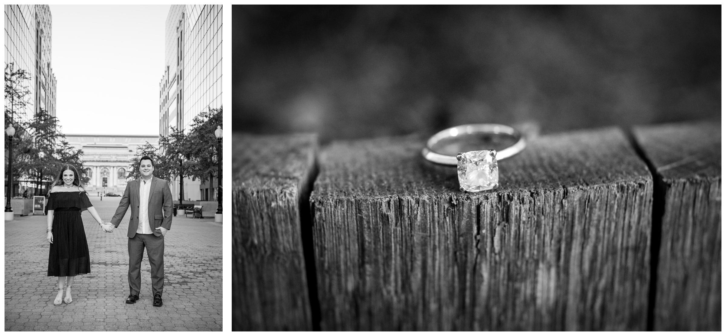 urban engagement session in downtown Washington, D.C.