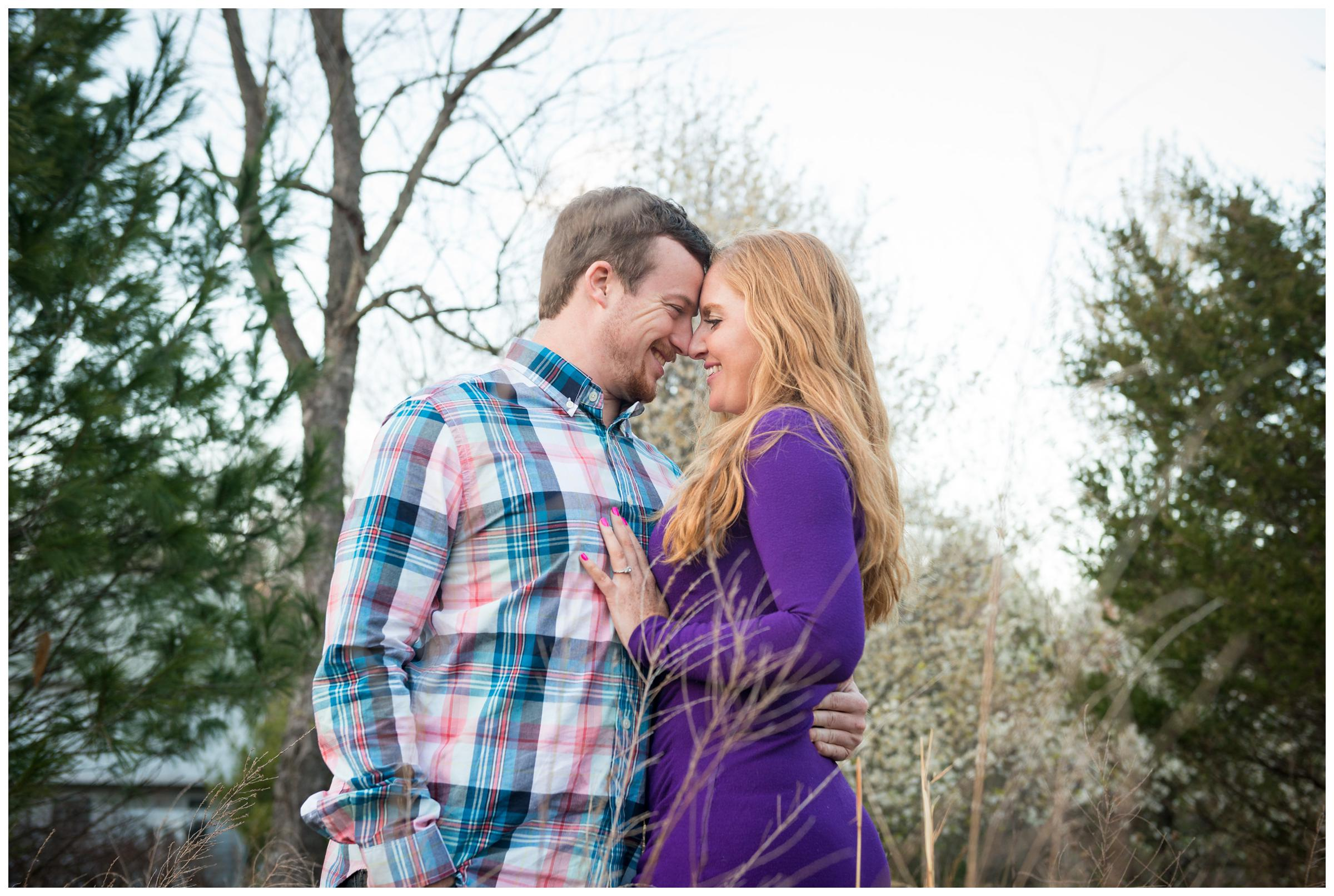Spring cherry blossom engagement session in Rockville, Maryland