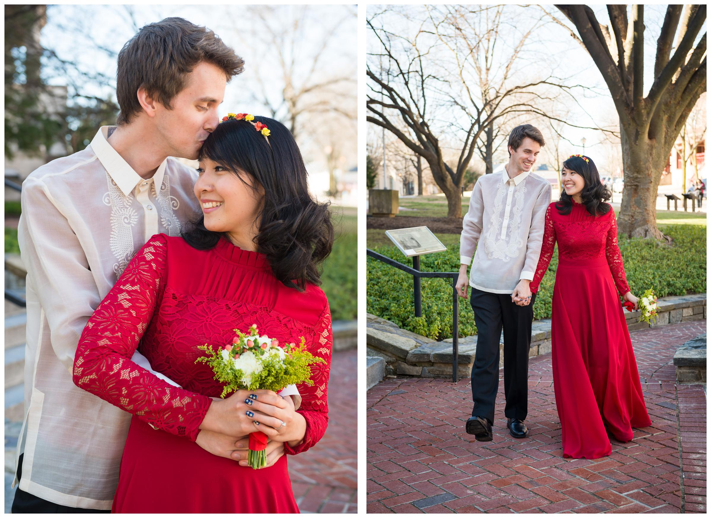 Courthouse Wedding Elopement in Rockville | Chris and Kristine