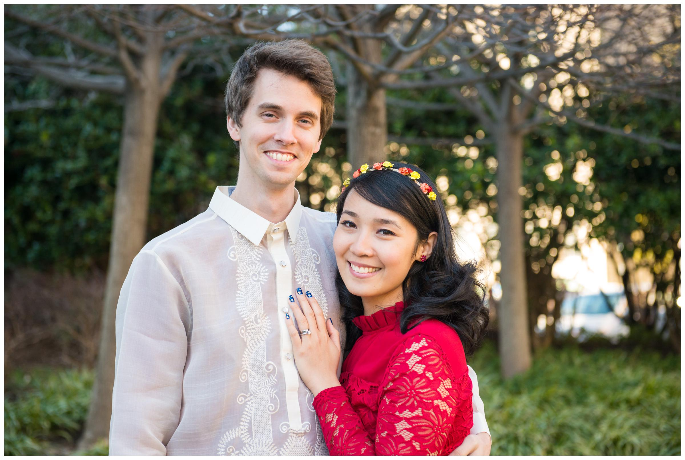 portrait of the bride and groom in Filipino wedding attire