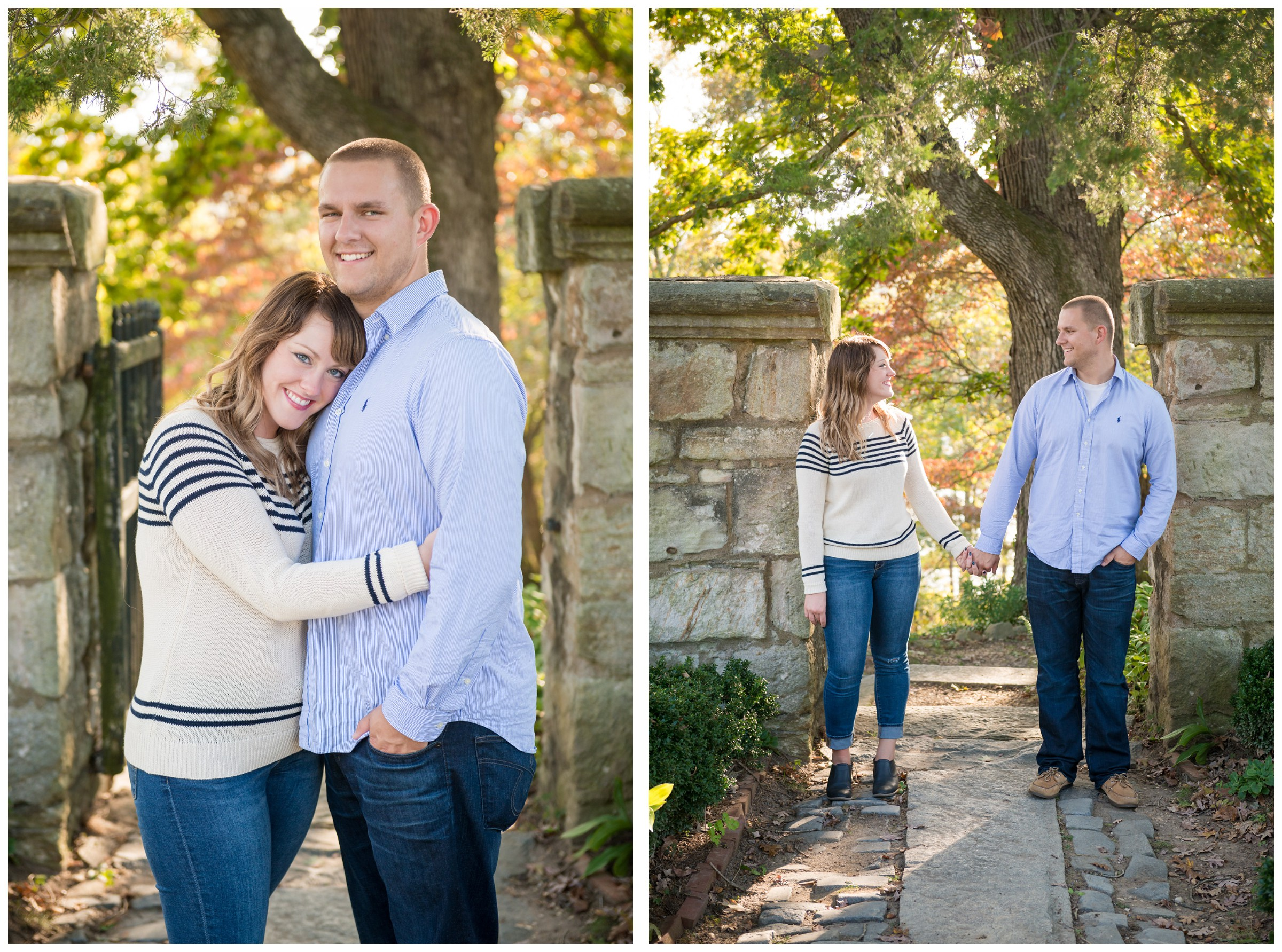 fall engagement photos at the Gari Melchers Home and Studio in Fredericksburg, Virginia