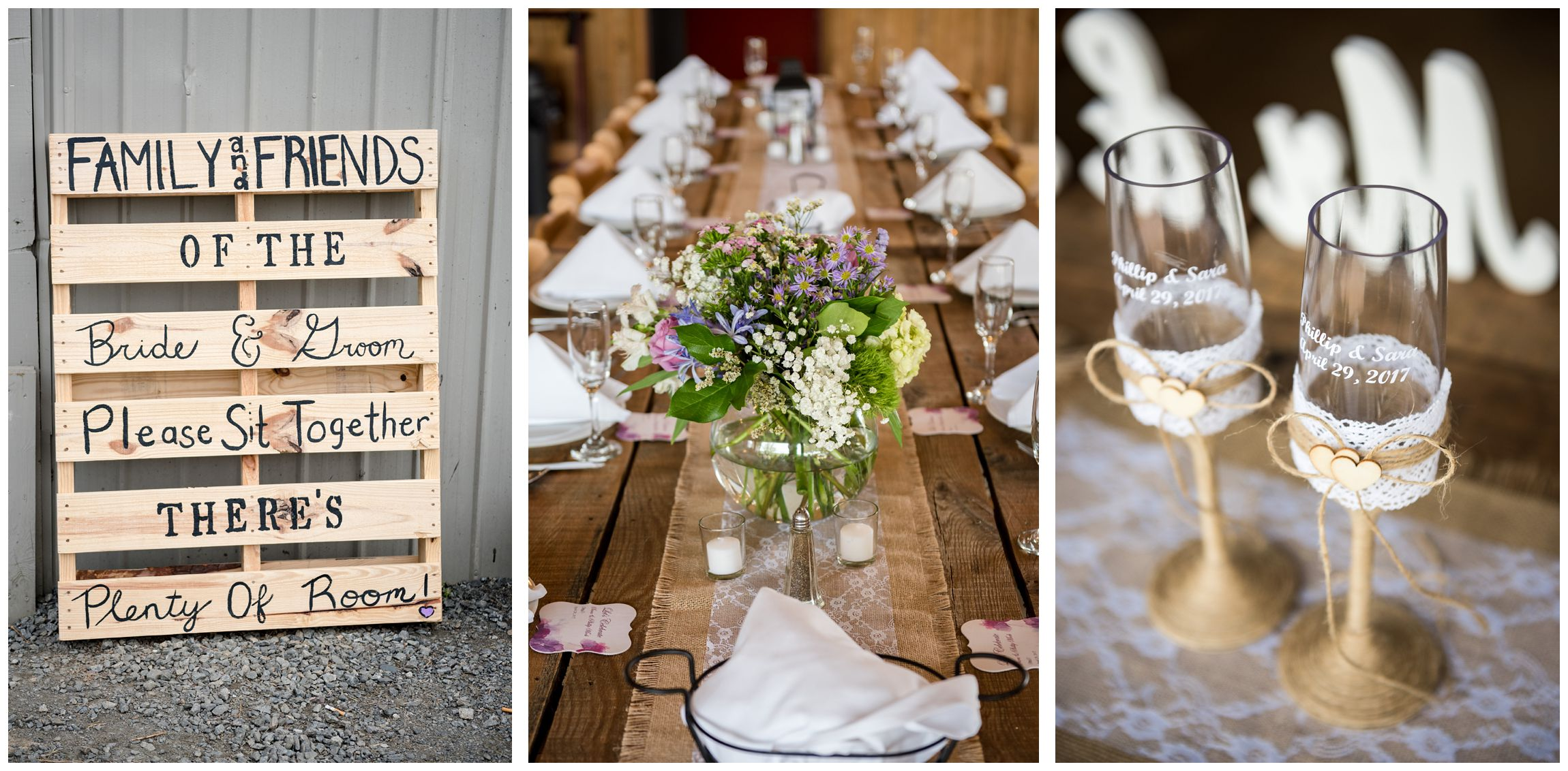 rustic barn wedding reception at Wolftrap Farm in Gordonsville, Virginia