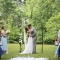 first kiss at outdoor wedding in Columbus Ohio