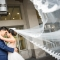 flying Cathedral veil photo by Columbus wedding photographer