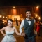 night photography sparkler exit send off after barn wedding reception