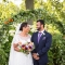 Indian groom and African American bride at Jorgensen Farms wedding in Ohio