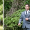 groom reacts to seeing bride walk down the aisle
