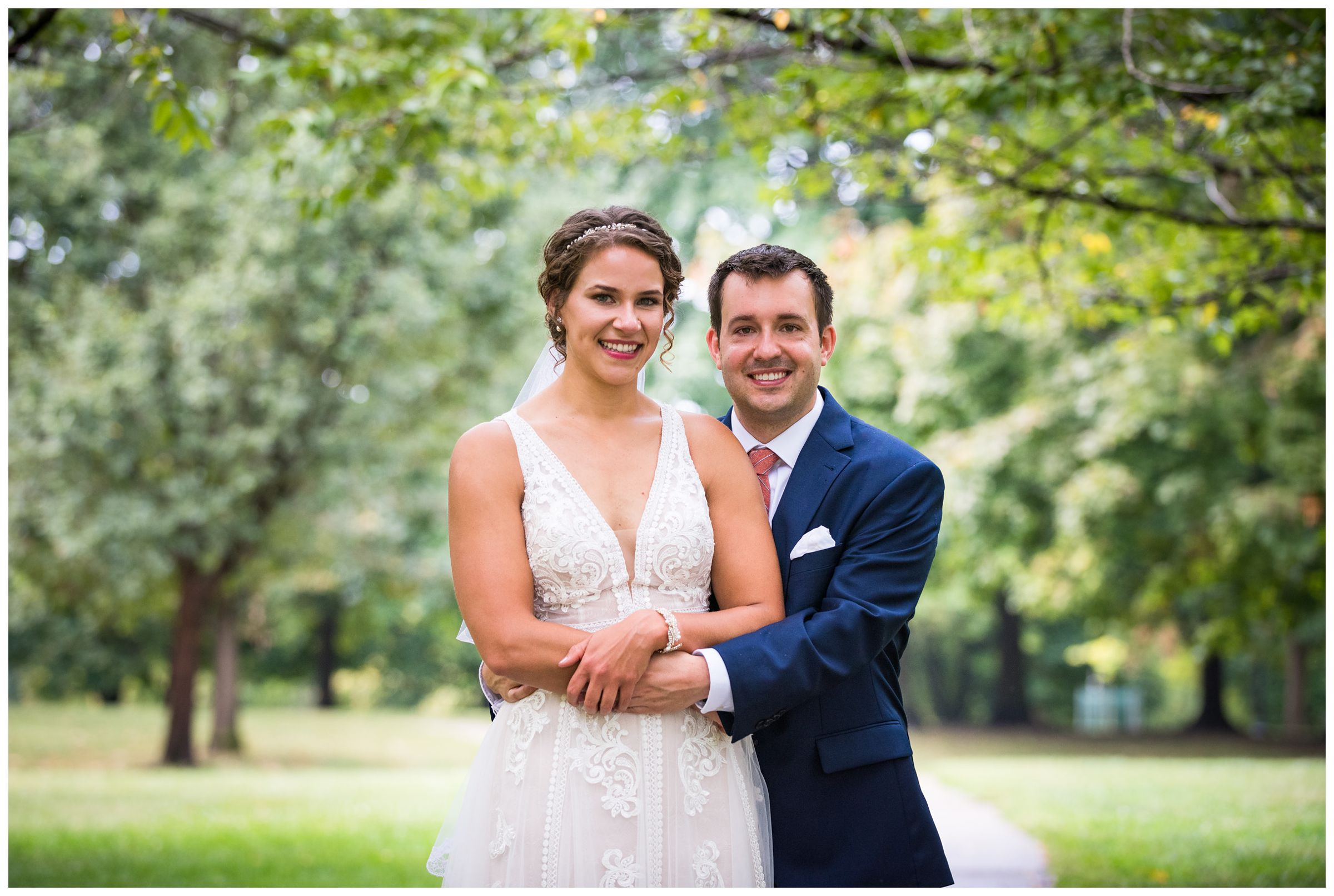 wedding portraits at Goodale Park in the Short North in Columbus Ohio