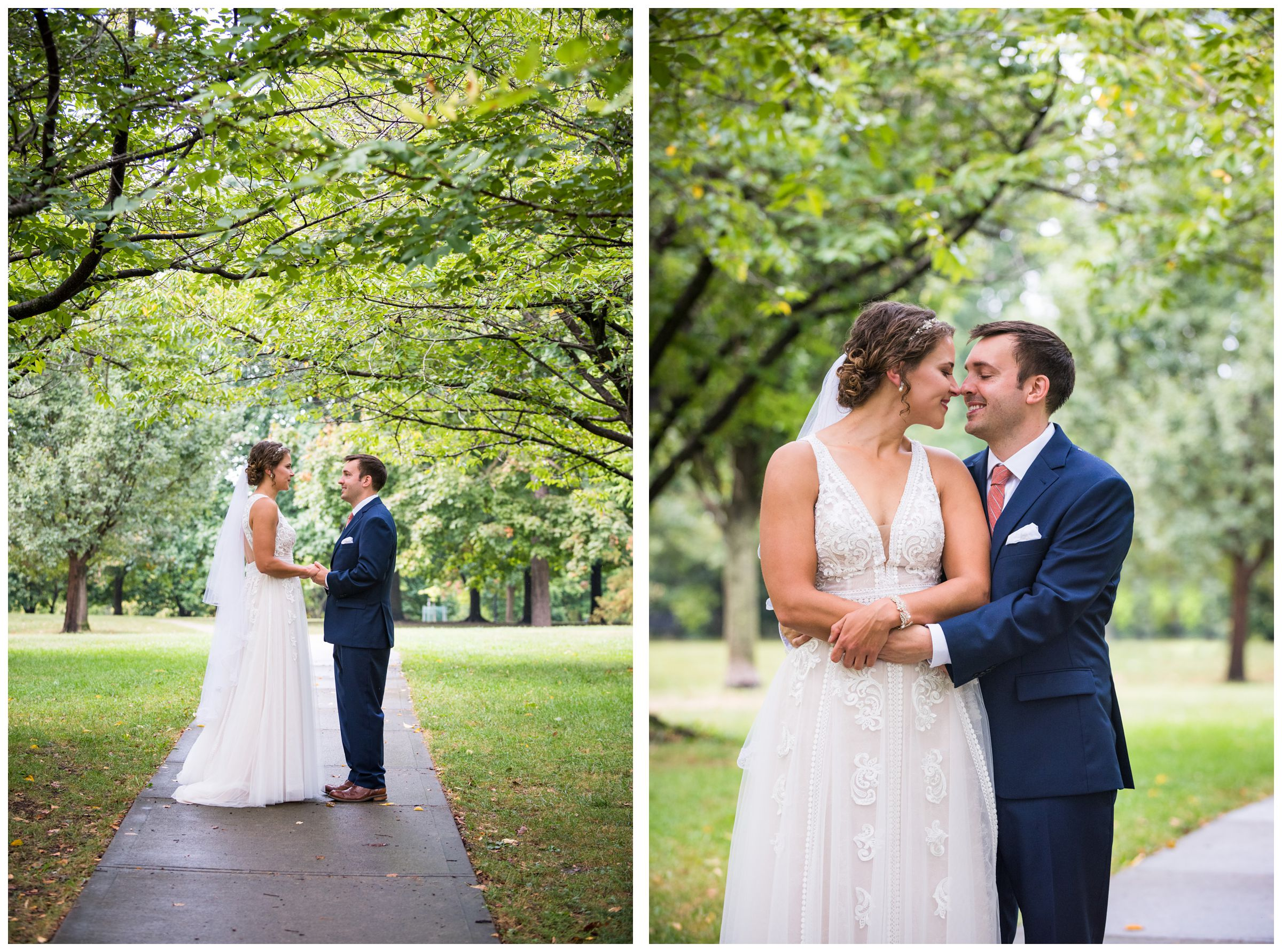 bride and groom wedding photography at Goodale Park in the Short North in Columbus Ohio